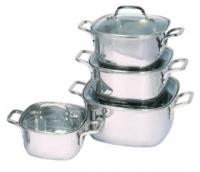 Набор посуды Regent INOX QUADRO vitro 93-Qv07 7 предметов