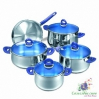 Набор посуды Korkmaz Mavis Cookware Set 9 предметов