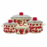 Набор посуды Metrot Мак Восточный 9395 084450 (6/1+Ковш 16см) 7 предметов