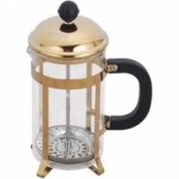 Bekker Кофейник/заварочный чайник DeLux с отделкой под золото, 0,6 л BK-357